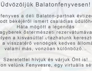Balatonfenyvesi Turisztikai hivatal ajánlása